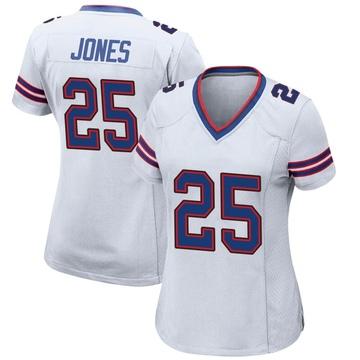 Women's Nike Buffalo Bills Taiwan Jones White Jersey - Game