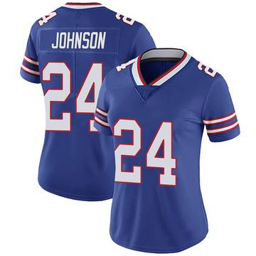 Women's Nike Buffalo Bills Taron Johnson Royal 100th Vapor Jersey - Limited