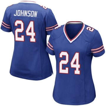 Women's Nike Buffalo Bills Taron Johnson Royal Blue Team Color Jersey - Game