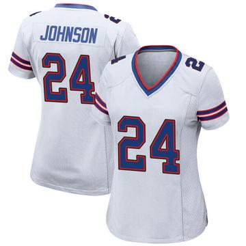 Women's Nike Buffalo Bills Taron Johnson White Jersey - Game