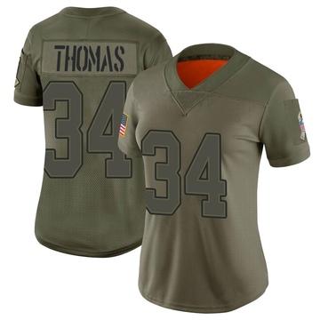 Women's Nike Buffalo Bills Thurman Thomas Camo 2019 Salute to Service Jersey - Limited
