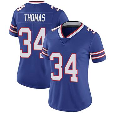 Women's Nike Buffalo Bills Thurman Thomas Royal 100th Vapor Jersey - Limited