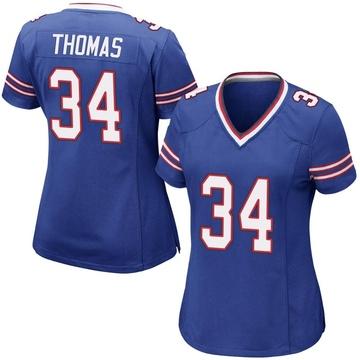 Women's Nike Buffalo Bills Thurman Thomas Royal Blue Team Color Jersey - Game