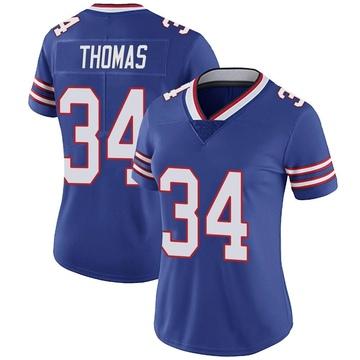 Women's Nike Buffalo Bills Thurman Thomas Royal Team Color Vapor Untouchable Jersey - Limited