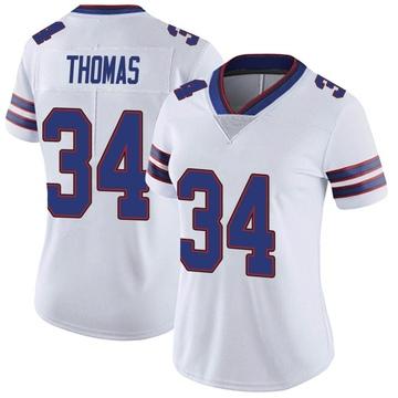 Women's Nike Buffalo Bills Thurman Thomas White Color Rush Vapor Untouchable Jersey - Limited