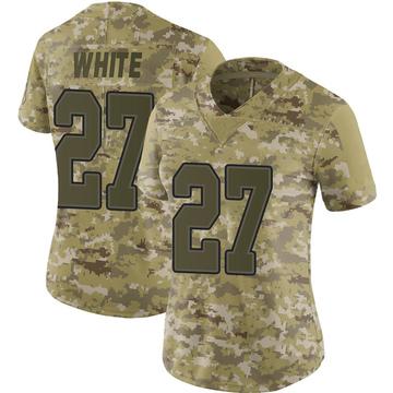 Women's Nike Buffalo Bills Tre'Davious White White Camo 2018 Salute to Service Jersey - Limited