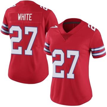 Women's Nike Buffalo Bills Tre'Davious White White Color Rush Red Vapor Untouchable Jersey - Limited