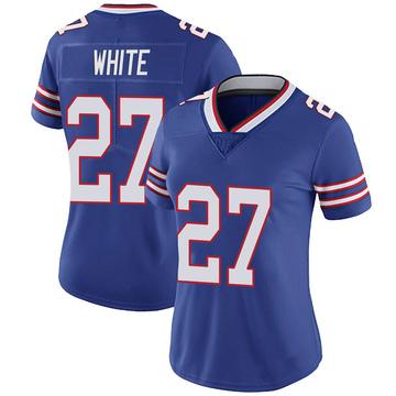 Women's Nike Buffalo Bills Tre'Davious White White Royal 100th Vapor Jersey - Limited
