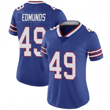 Women's Nike Buffalo Bills Tremaine Edmunds Royal Team Color Vapor Untouchable Jersey - Limited