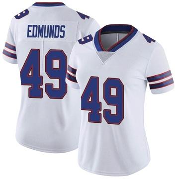 Women's Nike Buffalo Bills Tremaine Edmunds White Color Rush Vapor Untouchable Jersey - Limited