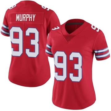 Women's Nike Buffalo Bills Trent Murphy Red Color Rush Vapor Untouchable Jersey - Limited