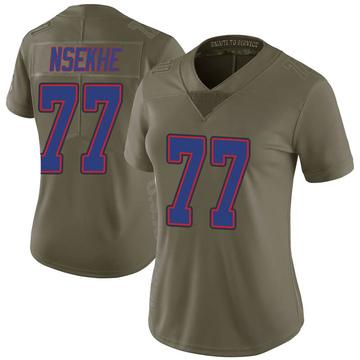 Women's Nike Buffalo Bills Ty Nsekhe Green 2017 Salute to Service Jersey - Limited