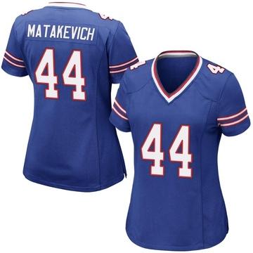 Women's Nike Buffalo Bills Tyler Matakevich Royal Blue Team Color Jersey - Game