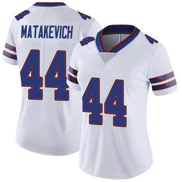 Women's Nike Buffalo Bills Tyler Matakevich White Color Rush Vapor Untouchable Jersey - Limited