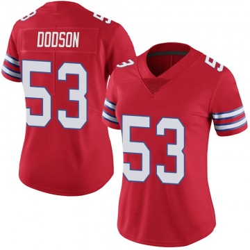 Women's Nike Buffalo Bills Tyrel Dodson Red Color Rush Vapor Untouchable Jersey - Limited