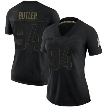 Women's Nike Buffalo Bills Vernon Butler Black 2020 Salute To Service Jersey - Limited