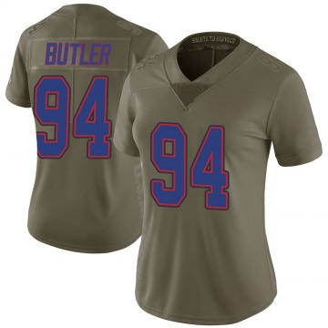 Women's Nike Buffalo Bills Vernon Butler Green 2017 Salute to Service Jersey - Limited