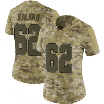 Women's Nike Buffalo Bills Victor Salako Camo 2018 Salute to Service Jersey - Limited