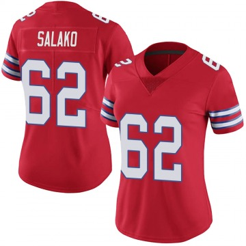 Women's Nike Buffalo Bills Victor Salako Red Color Rush Vapor Untouchable Jersey - Limited