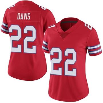Women's Nike Buffalo Bills Vontae Davis Red Color Rush Vapor Untouchable Jersey - Limited