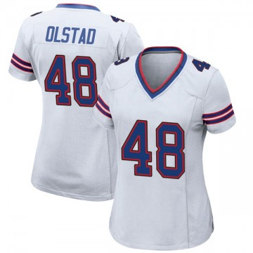 Women's Nike Buffalo Bills Zach Olstad White Jersey - Game