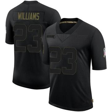 Youth Nike Buffalo Bills Aaron Williams Black 2020 Salute To Service Jersey - Limited
