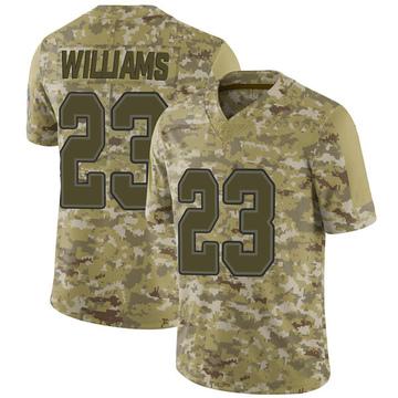 Youth Nike Buffalo Bills Aaron Williams Camo 2018 Salute to Service Jersey - Limited