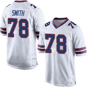 Youth Nike Buffalo Bills Bruce Smith White Jersey - Game