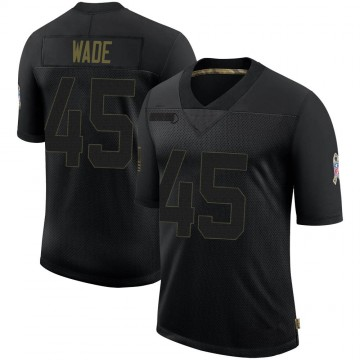 Youth Nike Buffalo Bills Christian Wade Black 2020 Salute To Service Jersey - Limited