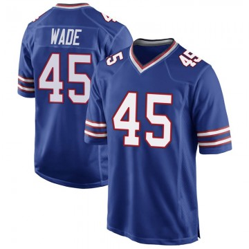 Youth Nike Buffalo Bills Christian Wade Royal Blue Team Color Jersey - Game