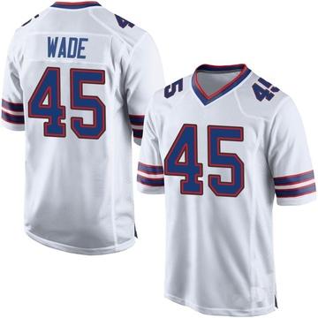 Youth Nike Buffalo Bills Christian Wade White Jersey - Game