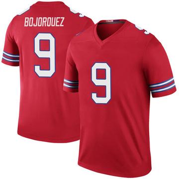Youth Nike Buffalo Bills Corey Bojorquez Red Color Rush Jersey - Legend
