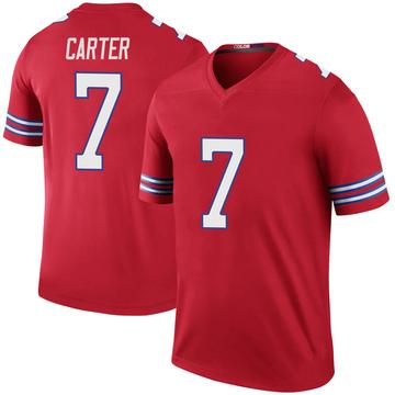 Youth Nike Buffalo Bills Cory Carter Red Color Rush Jersey - Legend