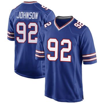 Youth Nike Buffalo Bills Darryl Johnson Jr. Royal Blue Team Color Jersey - Game