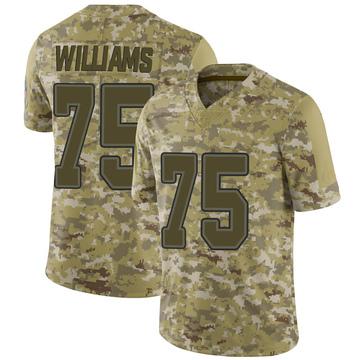 Youth Nike Buffalo Bills Daryl Williams Camo 2018 Salute to Service Jersey - Limited