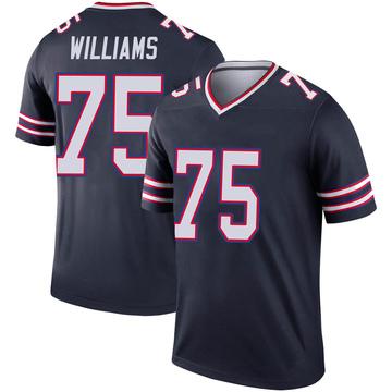 Youth Nike Buffalo Bills Daryl Williams Navy Inverted Jersey - Legend
