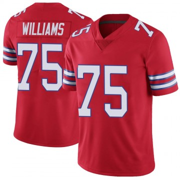 Youth Nike Buffalo Bills Daryl Williams Red Color Rush Vapor Untouchable Jersey - Limited