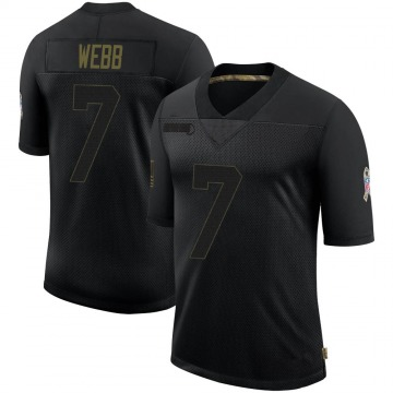 Youth Nike Buffalo Bills Davis Webb Black 2020 Salute To Service Jersey - Limited