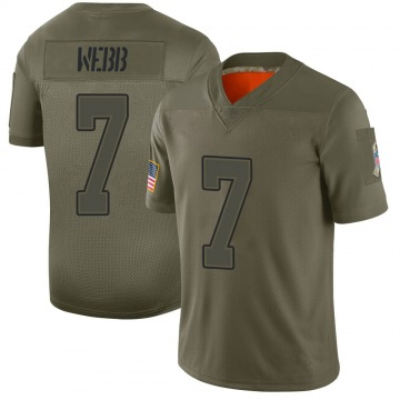 Youth Nike Buffalo Bills Davis Webb Camo 2019 Salute to Service Jersey - Limited
