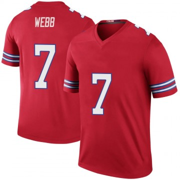 Youth Nike Buffalo Bills Davis Webb Red Color Rush Jersey - Legend