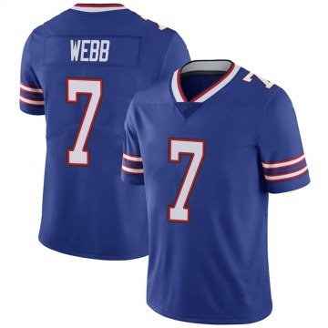 Youth Nike Buffalo Bills Davis Webb Royal 100th Vapor Jersey - Limited