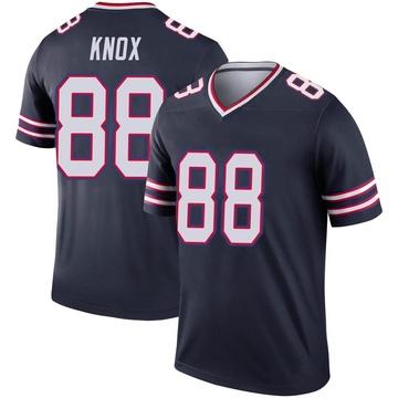 Youth Nike Buffalo Bills Dawson Knox Navy Inverted Jersey - Legend