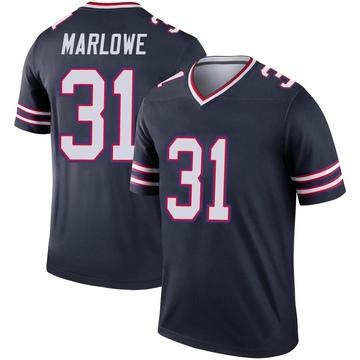 Youth Nike Buffalo Bills Dean Marlowe Navy Inverted Jersey - Legend