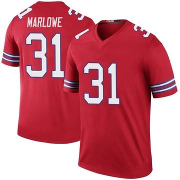 Youth Nike Buffalo Bills Dean Marlowe Red Color Rush Jersey - Legend