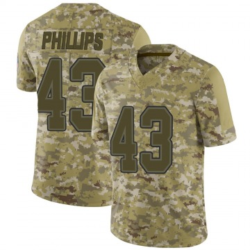 Youth Nike Buffalo Bills Del'Shawn Phillips Camo 2018 Salute to Service Jersey - Limited