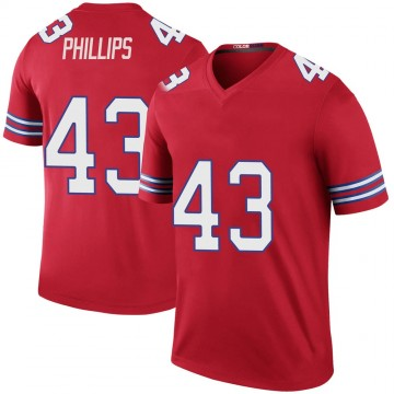 Youth Nike Buffalo Bills Del'Shawn Phillips Red Color Rush Jersey - Legend