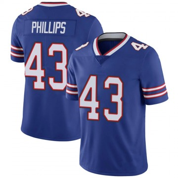 Youth Nike Buffalo Bills Del'Shawn Phillips Royal 100th Vapor Jersey - Limited