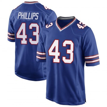 Youth Nike Buffalo Bills Del'Shawn Phillips Royal Blue Team Color Jersey - Game