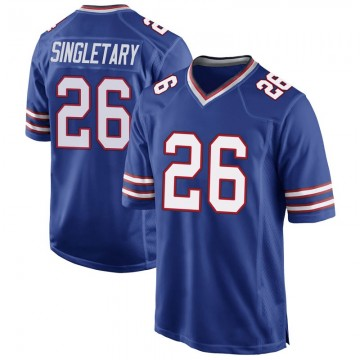 Youth Nike Buffalo Bills Devin Singletary Royal Blue Team Color Jersey - Game