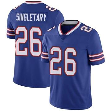 Youth Nike Buffalo Bills Devin Singletary Royal Team Color Vapor Untouchable Jersey - Limited